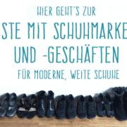 Weite, moderne Schuhe für breite Füße