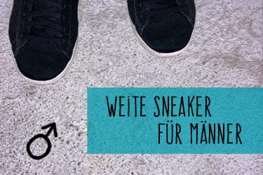Weite Sneaker für Männer
